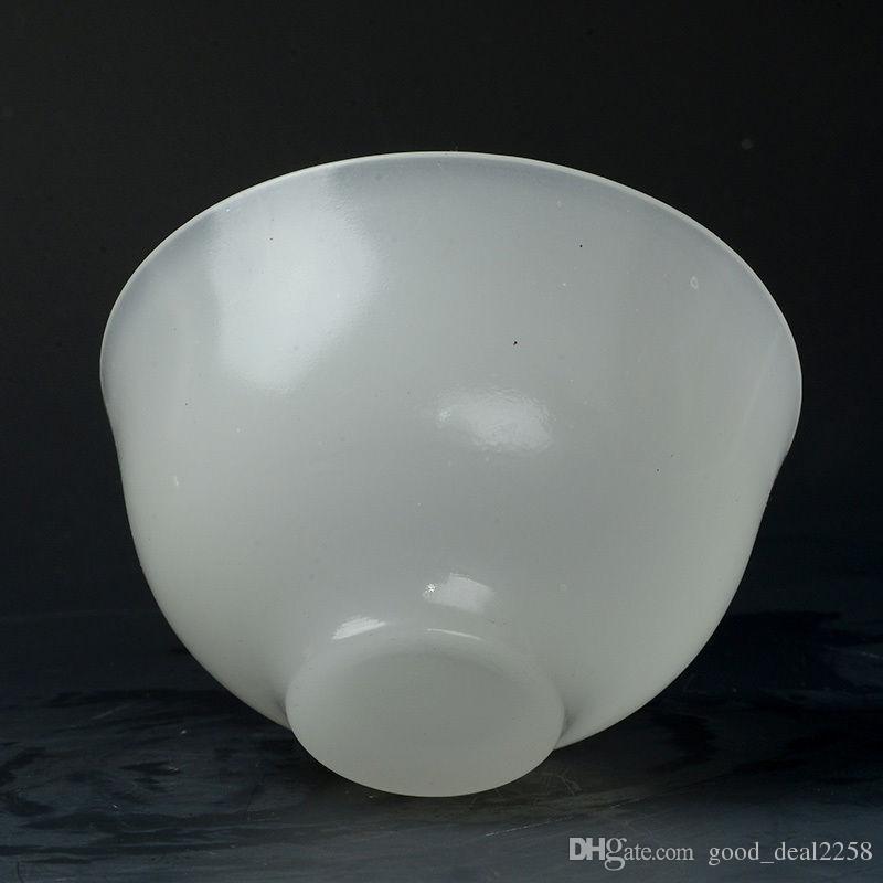Superba ciotola di giada bianca naturale intagliata a mano