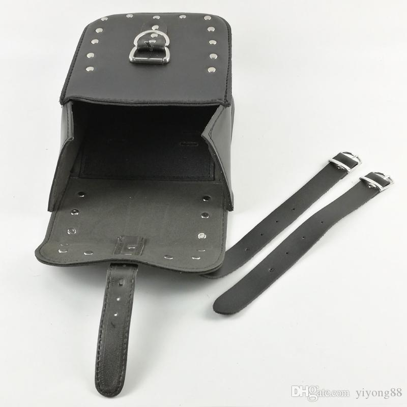New Black Prince's Car Motorcycle Cruiser Side Box Tool Bag Imitation leather&Saddle Bags Tail Bags Cases One Piece