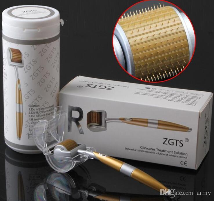 192 Pins Titanium Needles ZGTS Derma Roller Skin roller for Cellulite Age Pores Refine DHL Free Shipping