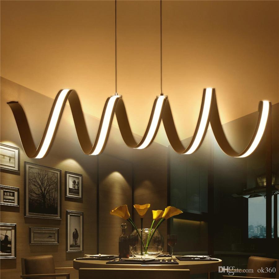 Compre Moderno LED Lámparas Colgantes Comedor Sala De Estar Lámparas ...