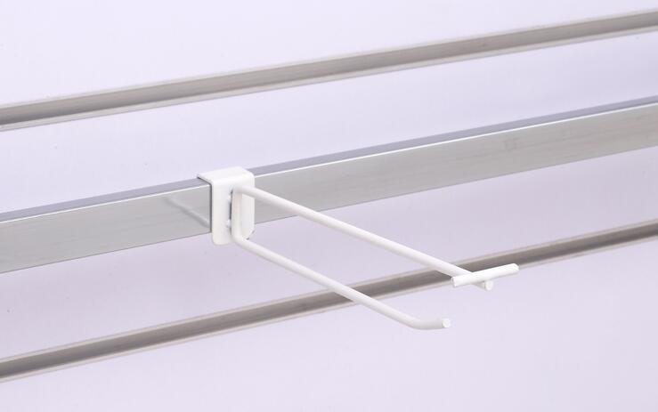 Beyaz Raf tüp askı kanca süpermarket iyi merchandising vitrin aksesuarları