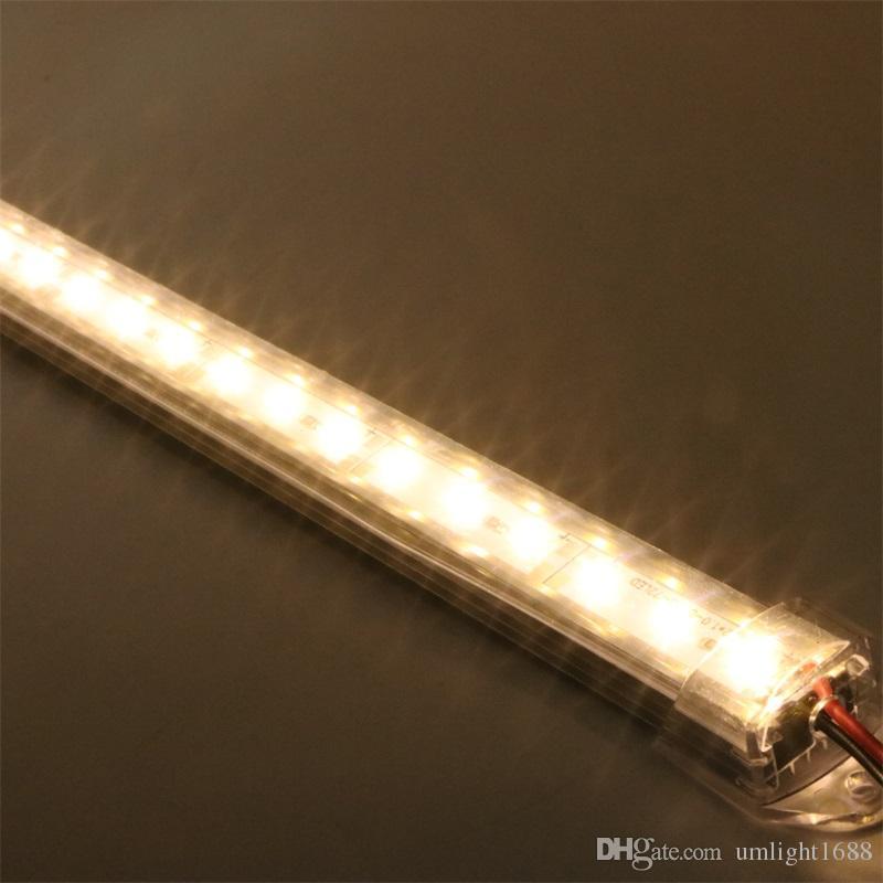 Umlight1688 100 CM 50 cm DC 12 V 72 36 SMD 5630 CONDUZIU a Barra de Tira CONDUZIDA Rígida Difícil CONDUZIU com U de alumínio concha Via Láctea / PC Claro