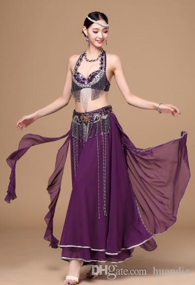 2018 2017 New Sexy Arabic Belly Dance Wear Stage Costumes Belly Dancing Performance Dresses With Belt From Huandie 40 21 Dhgate Com
