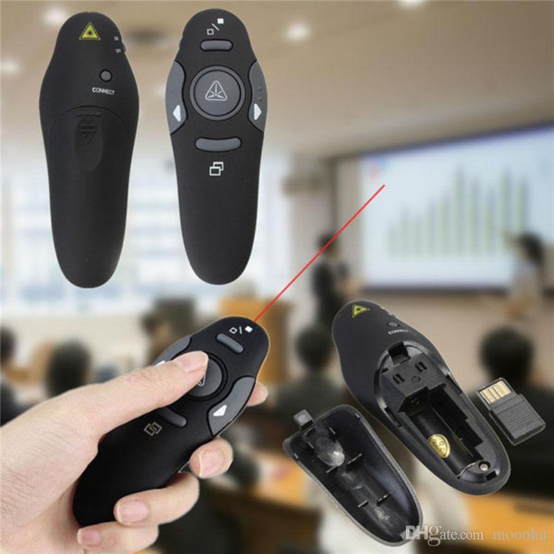 Hot Sale Red Laser Pointer RF 2.4GHz Presentation PPT Clicker 5MW Wireless Presenter Remote Control with USB Receiver