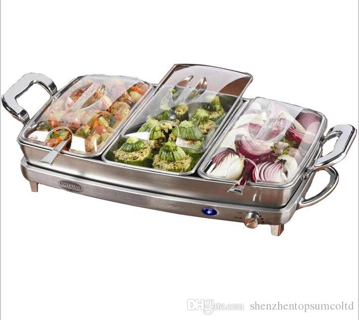 See larger image - Hot Sale Stainless Steel Electricity Buffet Chafing Dish Set