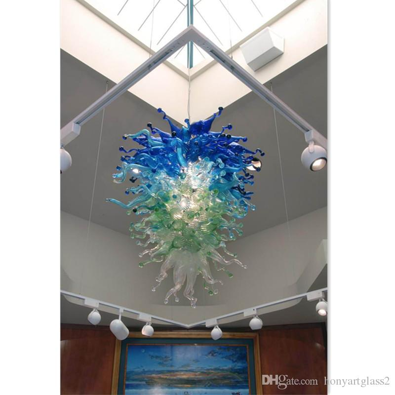 Murano Glass Blown Chandelier Lightings Shade Color Hanging Lamp ...