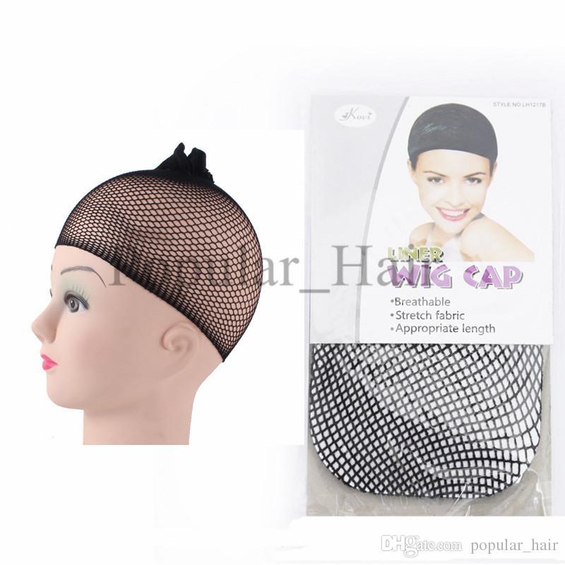 Very Cheap Wig Caps Black Stretchable Elastic Hair Net Snood Mesh