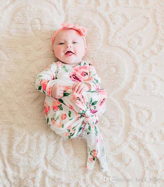 2018 New Brand Baby Floral Sleeping Bag For Photograph Newborn Baby