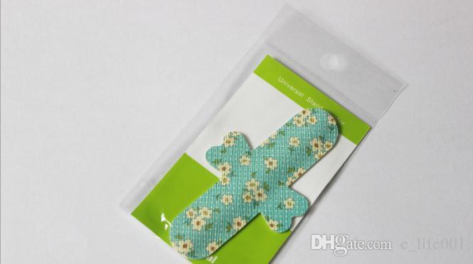 Universale carino fiore pelle colorata cuoio dell'unità di elaborazione dito touch stand supporto telefono cellulare Iphone Samsung cellulare