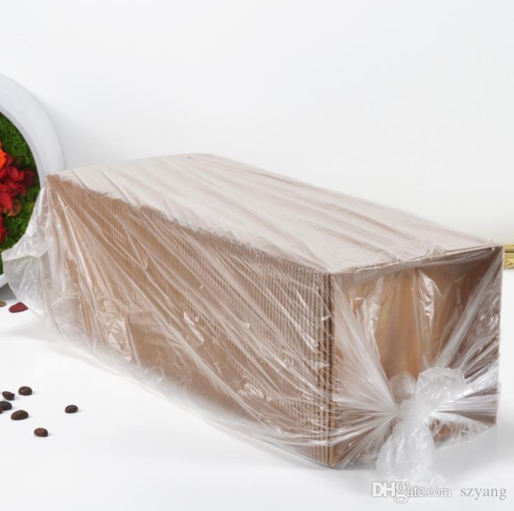 Scatole d'imballaggio della torta dell'hot dog del panino dell'insalata del contenitore / con i coperchi trasparenti Contenitore di regalo di carta del cartone di Kraft