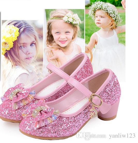 Girl Shoes Kids Bowknot Chaussure enfant Princess Patent Leather Girls Shoes Children Sneaker shoes kids boy .