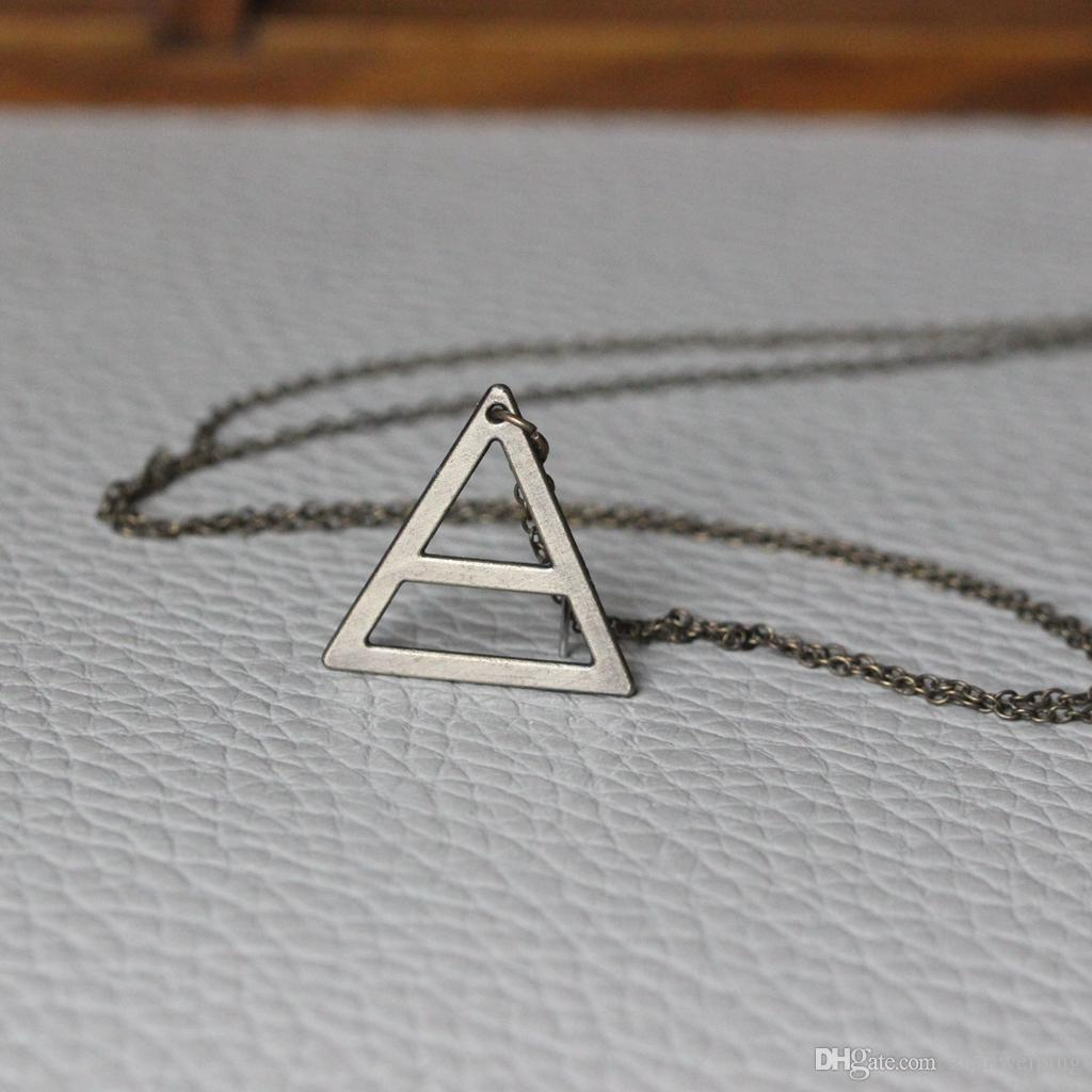 2018 simple air element symbol necklace jared leto inspired 2018 simple air element symbol necklace jared leto inspired jewelry 30 seconds to mars jewelry triangle necklace c51n from zhanweiping 704 dhgate buycottarizona