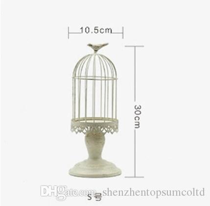 de 2 Cage à oiseaux Porte-chandelier Porte-bougie TeaLight Titulaire Lanterne Porte-bougie Pièce maîtresse Maison Mariage Décoration