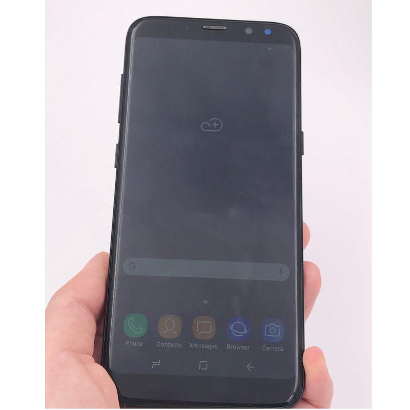 5.8 Polegadas Goophone S8 + S8 Plus smartphone MTK6580 Quad Core 1 GBRAM 16 GBROM Tela Curva Boa Qualidade 8MP Câmera Traseira Mostrar 4G / 128G telefone barato