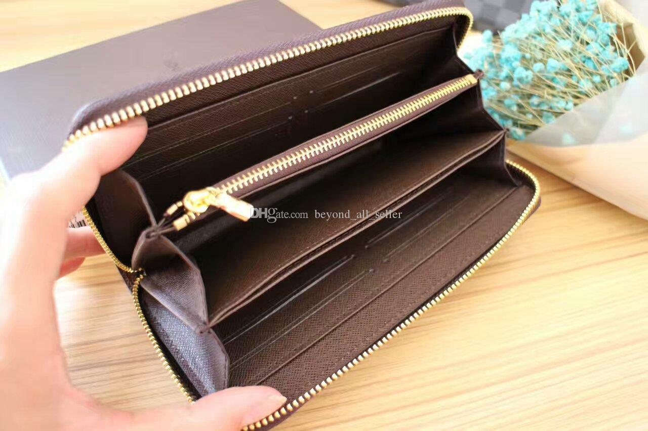 c3d5466abf602 Frauen Männer arbeiten klassische Geldbörse Kartenhalter kleine Geldbörse  mit Reißverschluss gute Qualität viele Farben