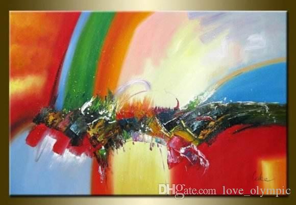 Enmarcado envío gratis 100% pintado a mano de alta calidad pintura al óleo sobre lienzo Inicio decoración de la pared del arte moderno pinturas abstractas Multi size R1036