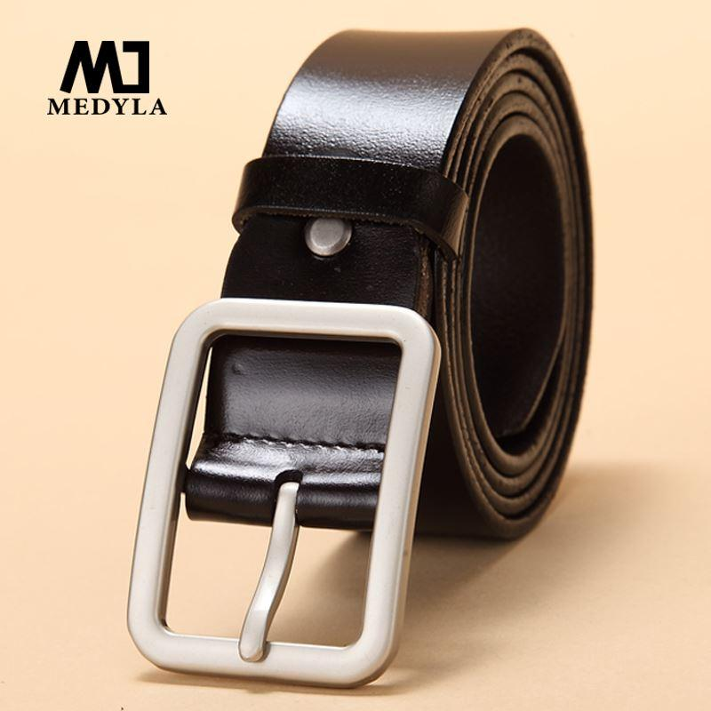 2017 New Unisex Leather Belt Pin Buckle Vintage Men and Women Fashion Strap  Female Waistband Pin Buckles Fancy for Men's Jeans