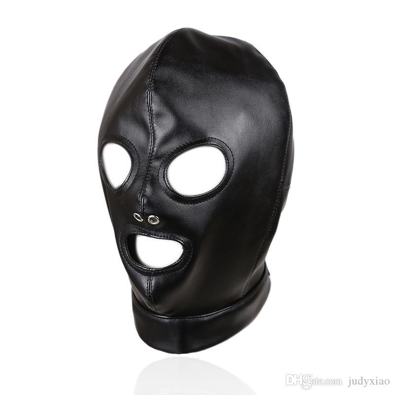 Escravo macio da escrava da capa da máscara do couro do plutônio nos jogos adultos para pares, brinquedos flertando do sexo da fetiche para mulheres e homens