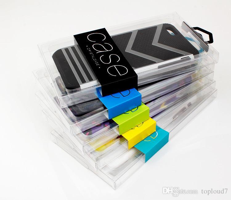OEM Design Label En Plastique PVC Emballage Au Détail Boîte Blister support intérieur Téléphone En Cuir Case Pour iPhone X 6S 7 8 Plus Samsung S7 Edge