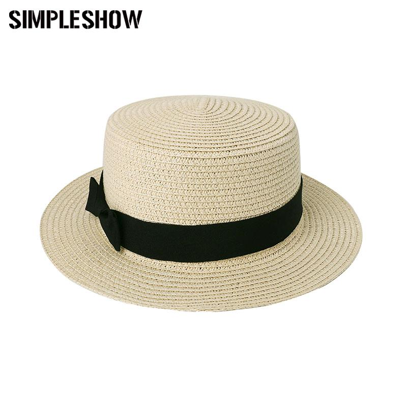 b2430b1ace5 Wholesale 2017 New Fashion Women S Sun Hats Summer Cap Wheat Panama Summer  Hats For Women Ladies Straw Hats Beach Cap Chapeu Feminino Headwear Felt Hat  From ...