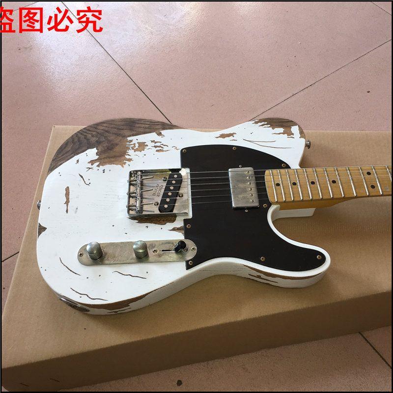 2017 Vendita calda Custom Shop, handworks Jim Root Signature Classic Tele Chitarra elettrica, jeff Beck Esq Guitar, Real Guitar Photo