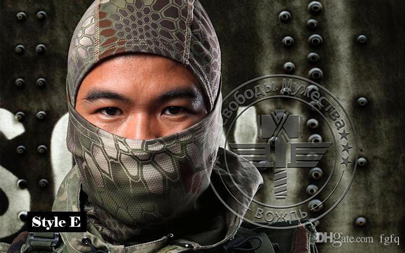 Maschera Multicam Camo Sport Balaclava caccia di Airsoft all'aperto camuffamento Army Ciclismo Moto Cap Cappelli Full Face