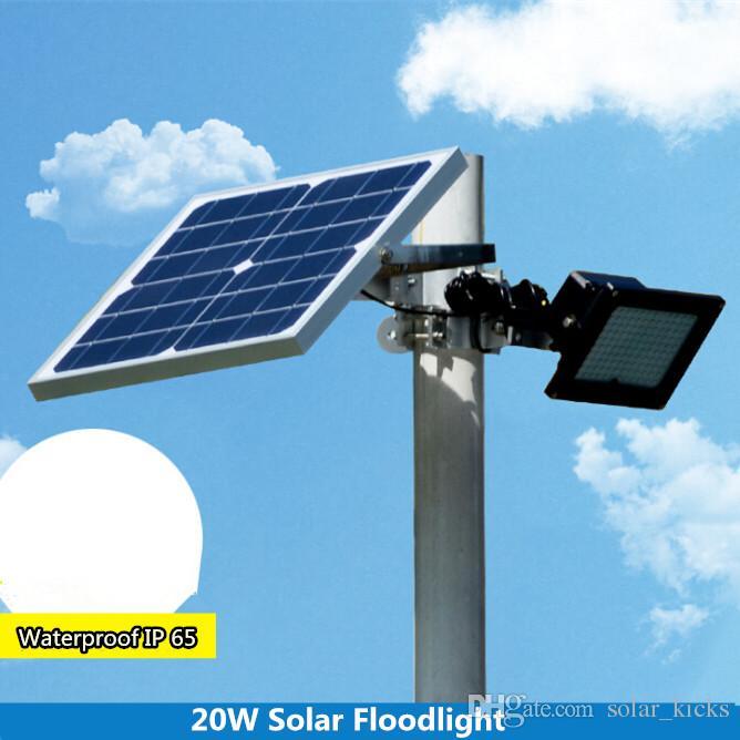20watt Solar Powered Outdoor Led Garden Lights 120 Leds Remote Sensor Solar  Floodlights Spotlights Solar Lamp Bulbs Yk S5r Led Flood Light 50w 50w Led  Flood ...