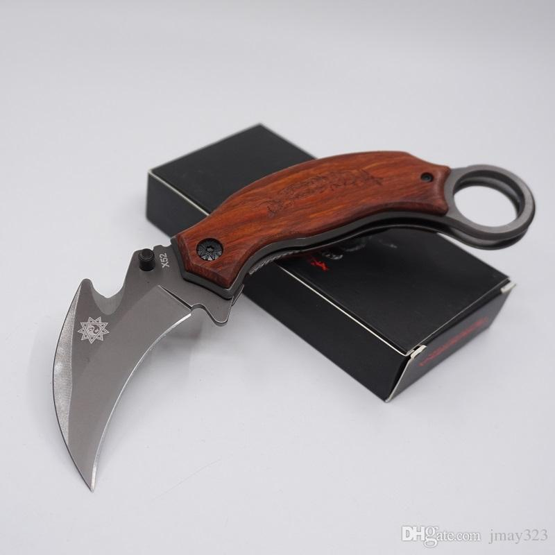 CS GO Karambit Coltelli pieghevole Pocket Mantis Artiglio coltello 5Cr13Mov Acciaio Lama esterna Gear Knife Tattico di campeggio di sopravvivenza Coltello EDC Strumento