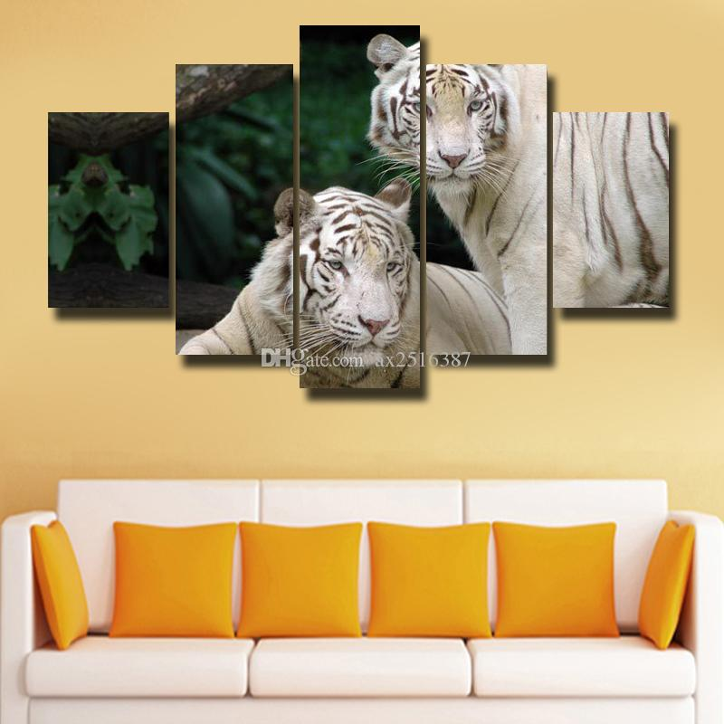 Framed 5 Panels Canvas Print Painting Modern Canvas Wall Art For ...