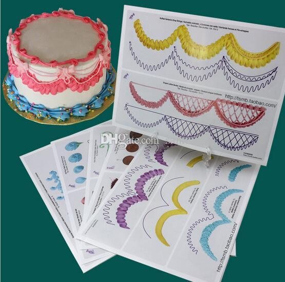 Cake Icing Piping DIY Practice Drawing Board Template Paper Decor Practice Template Paste Fondant Decorating