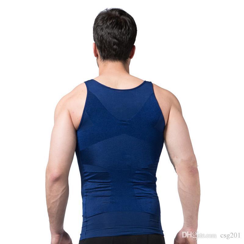 남성 슬리밍 바디 셰이퍼 벨트 속옷 허리 트레이너 코르셋 남성용 bodysuit TV 복부 속옷 덜 맥주 배꼽 leotard