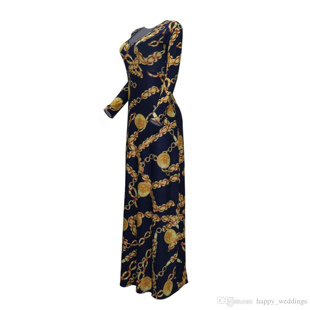 Venta caliente Nueva Moda Diseño Ropa Africana Tradicional Imprimir Dashiki Niza Cuello Vestidos Africanos para Las Mujeres K8155