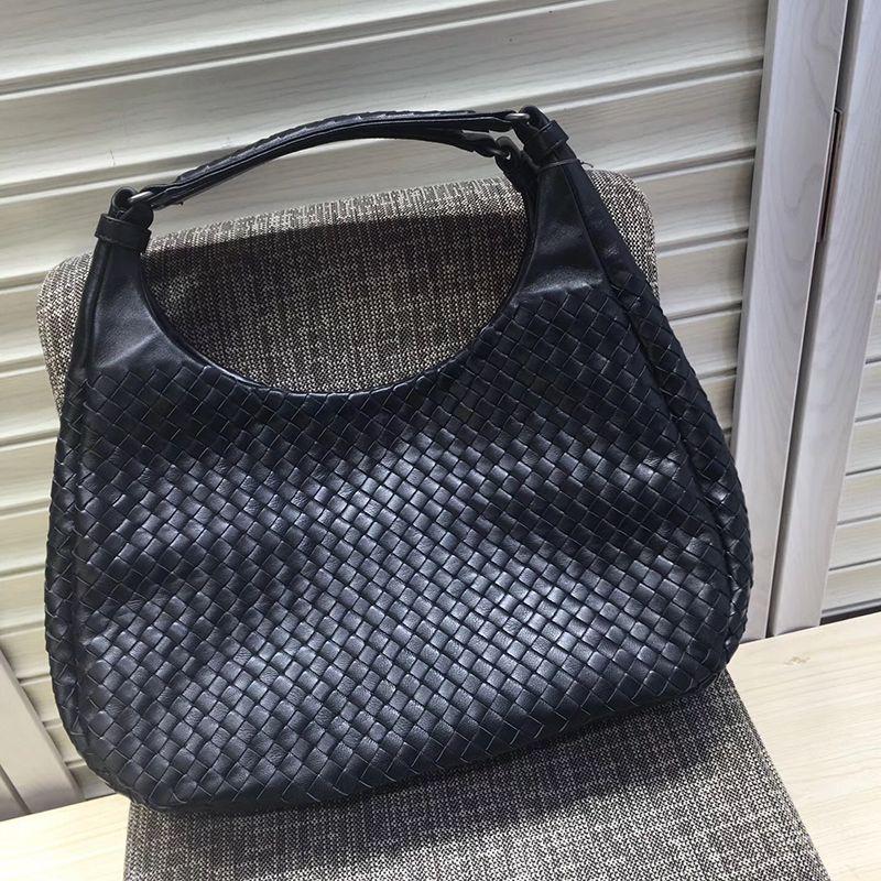 930c56366703 Wholesale Classic BV Knitting Bags Style Crochet Genuine Leather Sheepskin  White Hobos Bag Fashion Woman Shoulder Bag Large Capacity Handbag Cute  Handbags ...