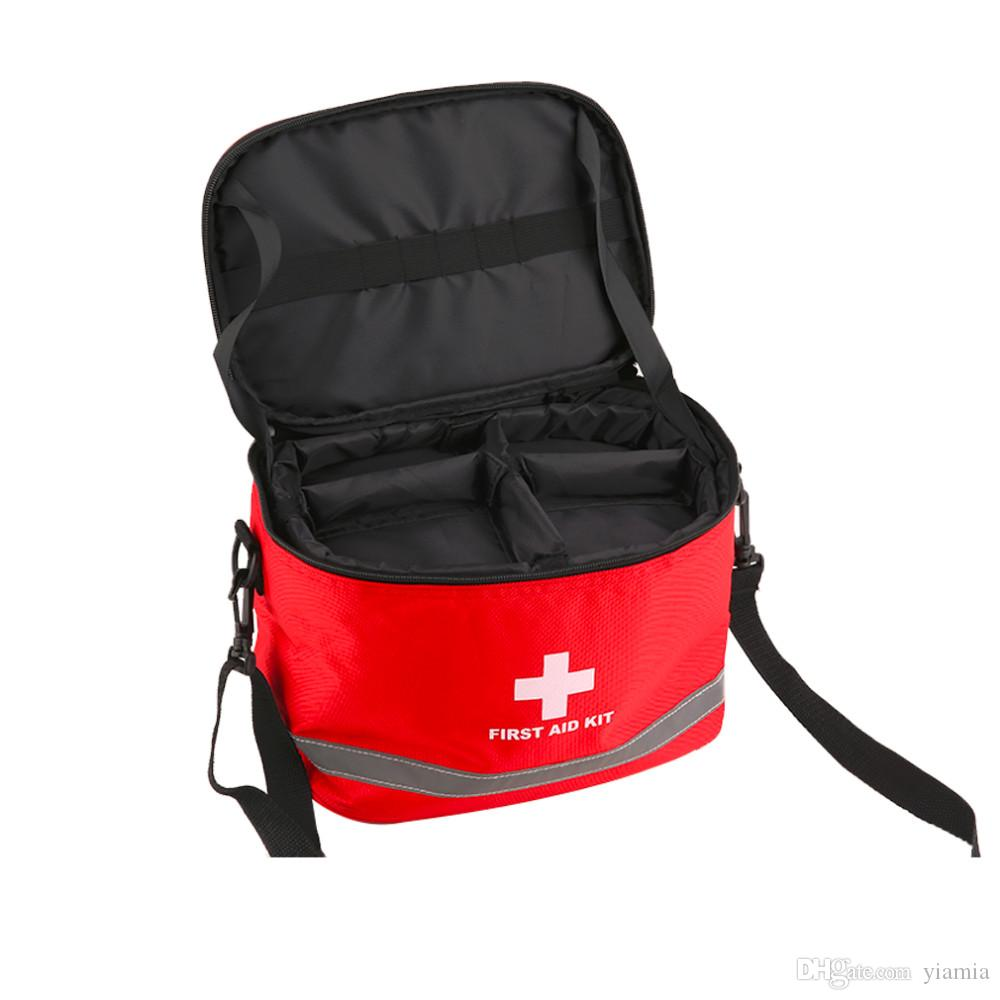 Sports Camping Home Medical Emergency Survival First Aid Kit Bag for Outdoor 28*19*20cm Hot Sale