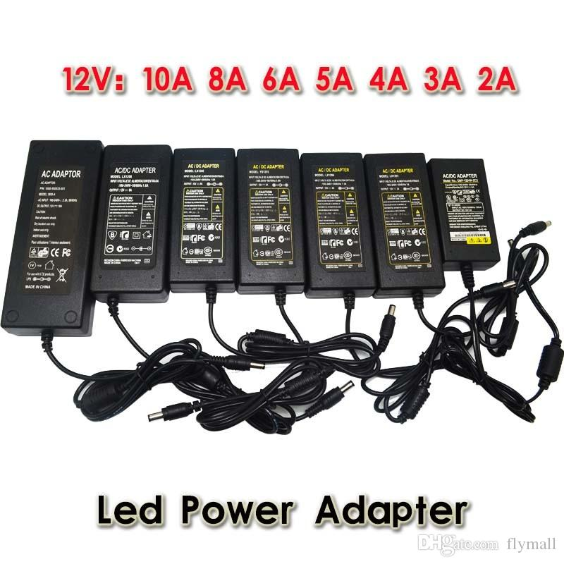 AC 100-240V to DC 12V 6A 72W Power Adapter Supply Charger Lighting Transformers With EU/AU/UK/US 1.2m Plug Cord For Led Strip Lights