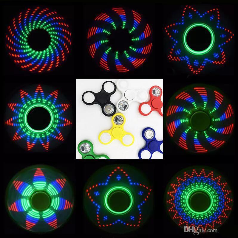 LED Fid Spinner Hand Spinner Toy Golden Alloy Multi Style Bearing