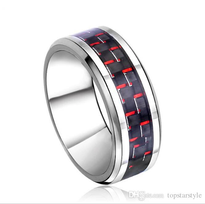 8mm Fashion Jewelry Ring Tungsten Carbide Ring Blue Carbon Fiber inlay for men and women TUR-003