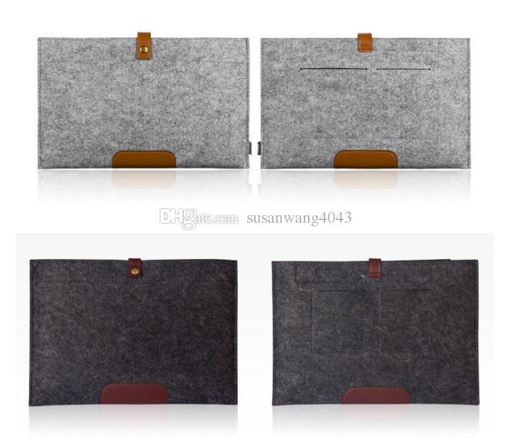 кожаный войлок противоударный ноутбук Liner сумка для Macbook ipad air pro 11 13 15 17 дюймов сумка для ноутбука защитный рукав чехлы для планшетов GSZ220