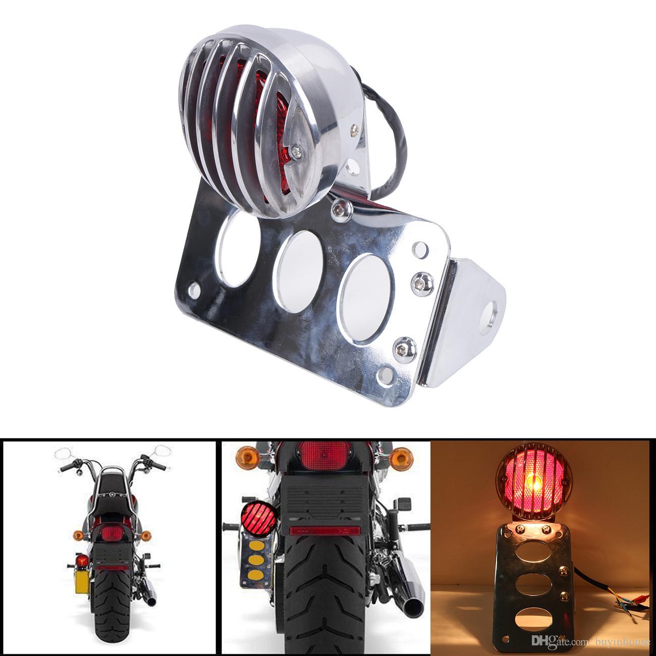 2019 Motorcycle Side Mount License Plate Frame Tail Brake Turning