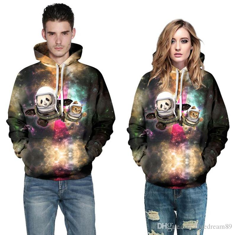 9177d4359ca 2019 Europe 3D Digital Printing Women Hoodies Cute Star Cat Large Size  Tracksuits Plus Size Sweatshirts Woman Fat Loose Couple Hoodies For Women  From ...