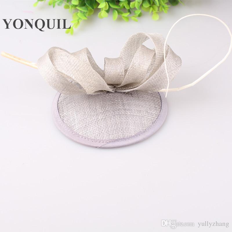 Художественные 15 цветов sinamay материал чародей головные уборы церковь шляпа свадебные аксессуары для волос бесплатная доставка FNR151125