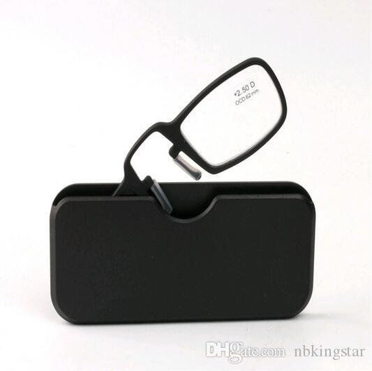 2016 Yeni Siyah Burun Klip Manyetik TR90 Okuma Gözlükleri Erkek Kadın DiopterGlasses Erkek Presbiyopik Gözlük