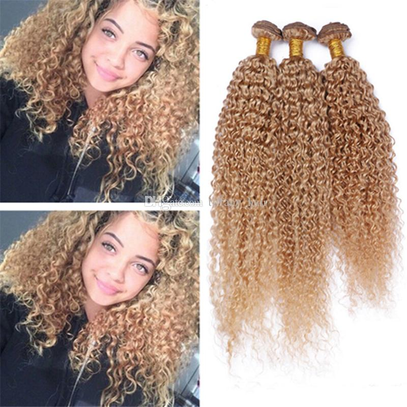 8a brazilian blonde curly hair extensions 27 honey blonde human 30 pmusecretfo Choice Image