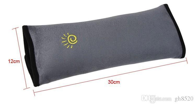 새로운 보편적 인 베이비 자동차 자동 안전 좌석 벨트 하네스 어깨 패드 커버 어린이 보호 자동차 커버 쿠션 지원 베개