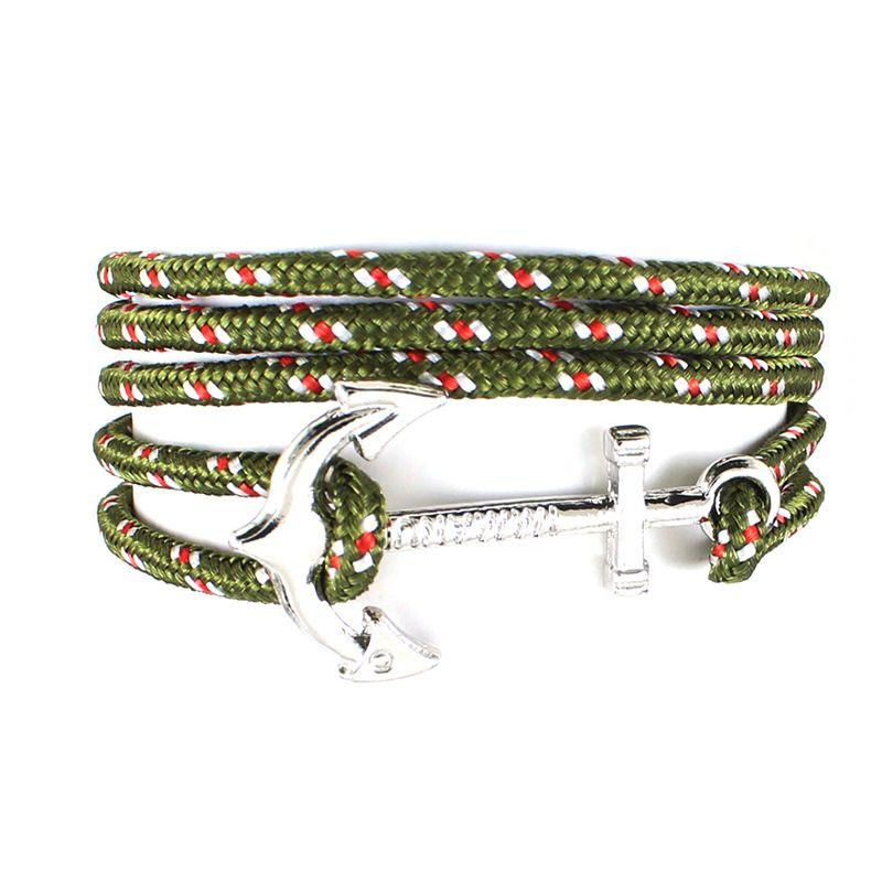 Adatti a nuovo argento Anchor braccialetto dell'involucro Donne multistrato Paracord corda bracciali gli uomini la speranza amicizia monili dei braccialetti regalo all'ingrosso