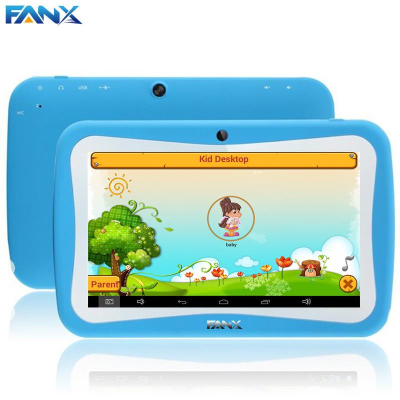 Wholesale- Free Shipping 7 inch Quad Core Children Kids Tablet PC 8GB RK3126 Android 5.1 MID Dual Cam & Educational Games App Birthday Gift