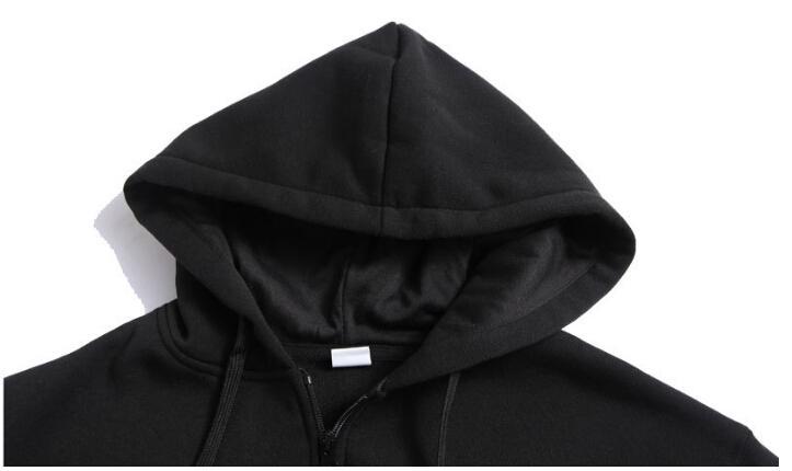 Zipper Cardigan Abrigos Hombres Casual Moda con capucha MESSI Chaquetas Sudaderas sueltas Sudaderas Abrigos