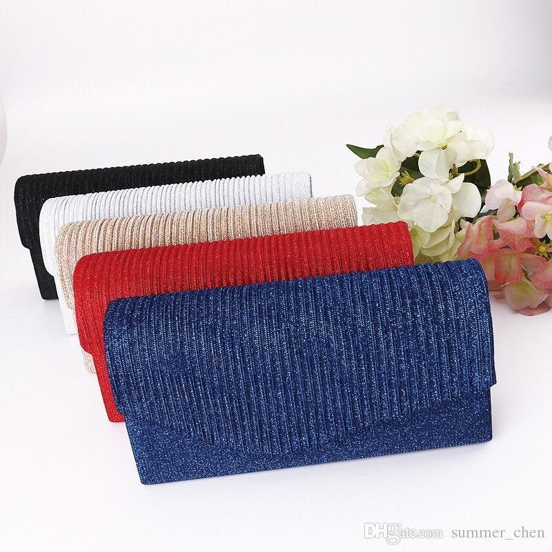 Simple Elegant Envelope Red Black Women Clutches Handbag Casual ...