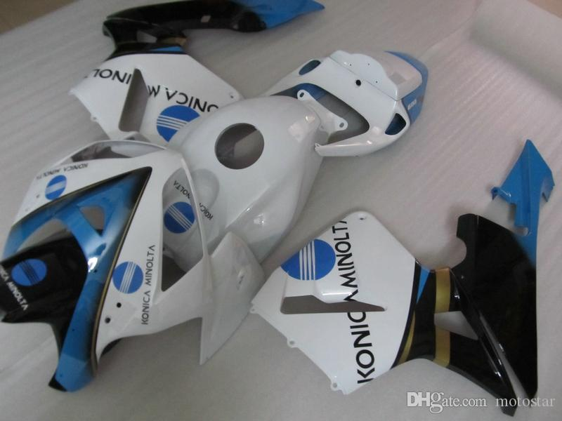 Injection molded plastic fairing kit for Honda CBR600RR 05 06 white blue black fairings set CBR600RR 2005 2006 OT11