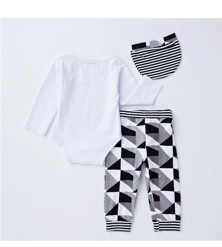 2017 novo terno bonito = um boné + uma camisa + um calças macacão de bebê casa terno de algodão confortável para bebê
